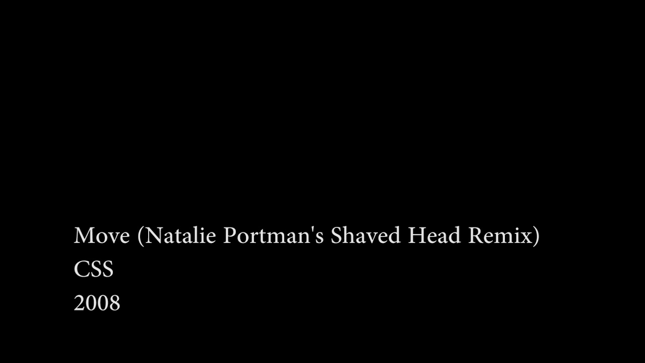 Natalie portmans shaved head remix