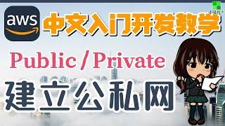 AWS 中文入门开发教学 - 建立公私网 - 公私分明才能网络安全 - vpc sub network p.11
