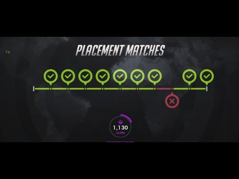 Overwatch Season Widowmaker Placement Matches 9 WINS  HOW to rank up