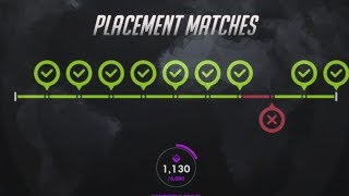 Overwatch Season Widowmaker Placement Matches 9 WINS | HOW to rank up