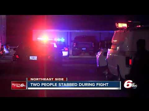 Two people stabbed on Indianapolis' northeast side