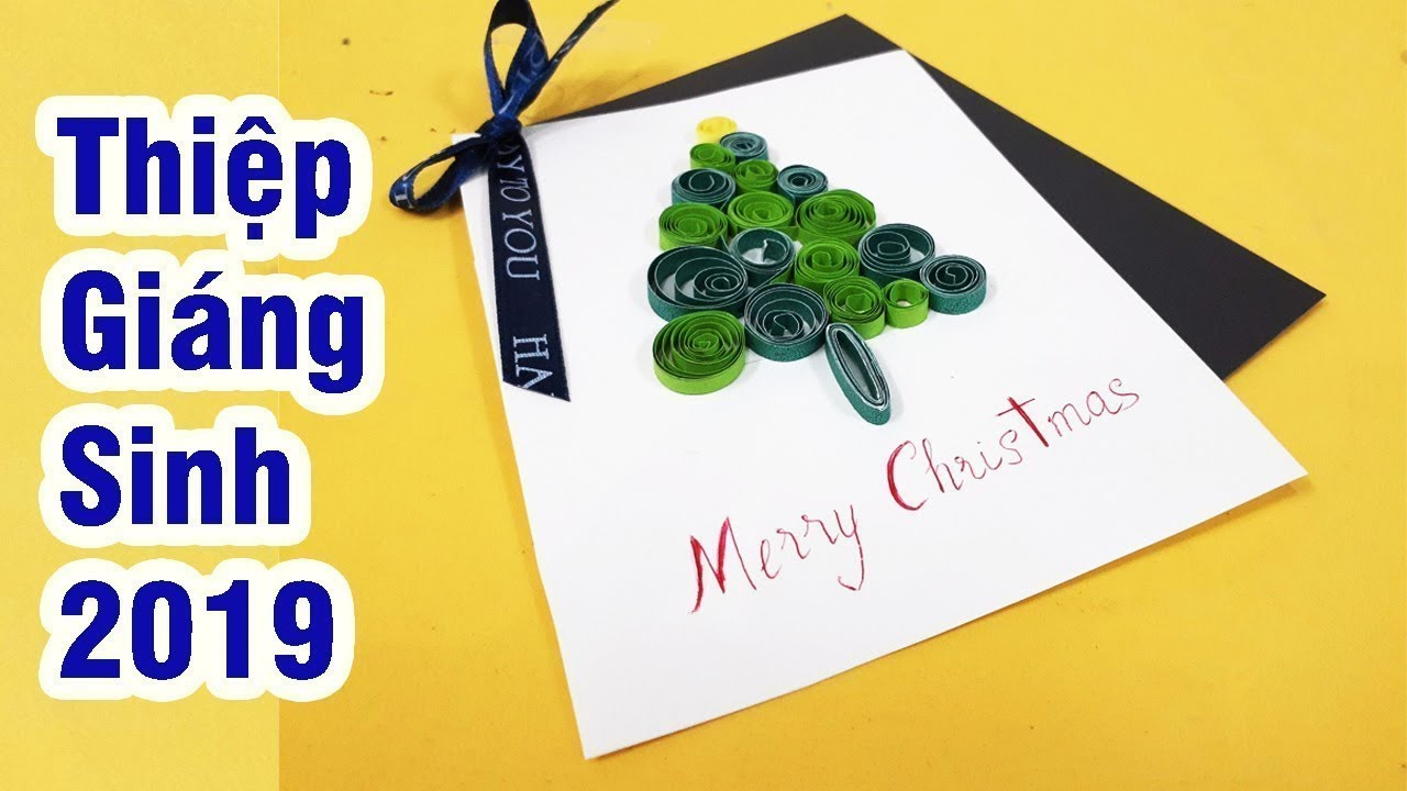 Cách Làm thiệp đơn giản -Hướng dẫn làmThiệp giáng sinh-thiệp giáng sinh 2019-Handmade Christmas Card