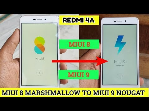 Redmi 4A upgrade miui 8 marshmallow to miui 9 nougat officail methoed