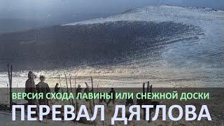 Лавина. Версия гибели группы туристов на перевале Дятлова.