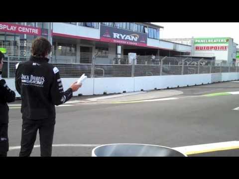 Jason Bargwanna Kelly Racing Track Walk at 2010 ITM 400 (Hamilton, New Zealand)
