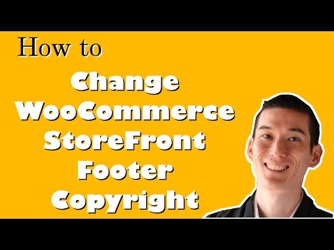 How to Change WooCommerce StoreFront Footer Credit With No Code Modifications