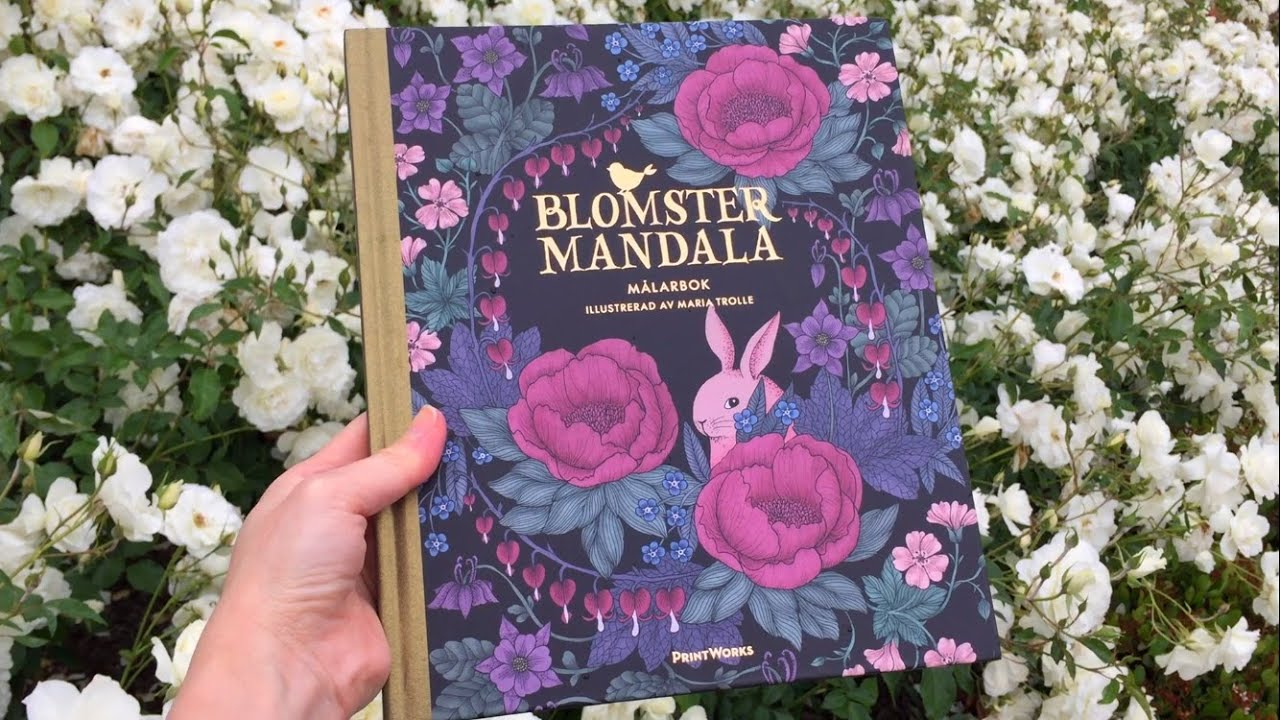 Flip Through Blomstermandala Twilight Garden Coloring Book By Maria Trolle