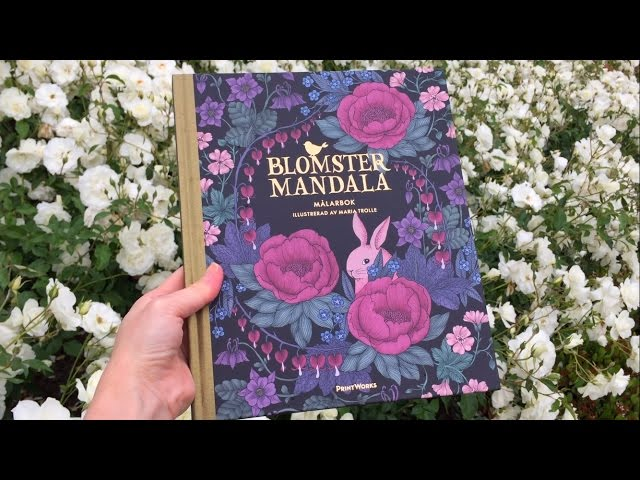 Chris Cheng Flip Through Blomstermandala Twilight Garden Coloring Book By Maria Trolle