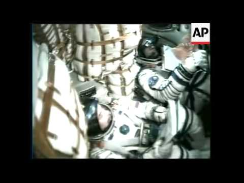 WRAP Launch of Soyuz carrying ISS crew and space tourist