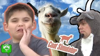 GOAT SIMULATOR Video Game! Rodeo + TMNT Battle on iPhone App HobbyKidsGaming