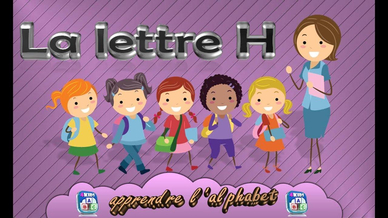 La lettre h apprendre l 39 alphabet fran ais maternelle - Alphabet francais maternelle ...
