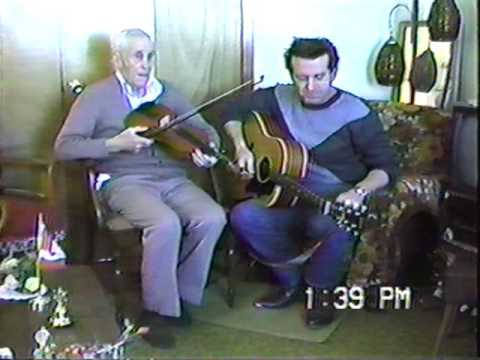 Jimmy Beairsto playing his fiddle at home in Kensington, PEI, November 1986.