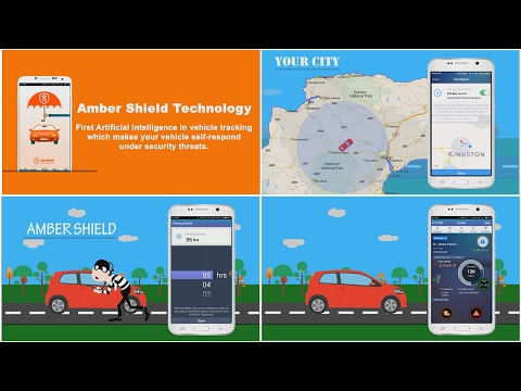 Amber Smart Vehicle Security mobile app promo
