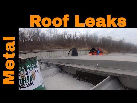 Metal Roof Leak Repair. Repairing roofing leaks with Turbo Poly Seal