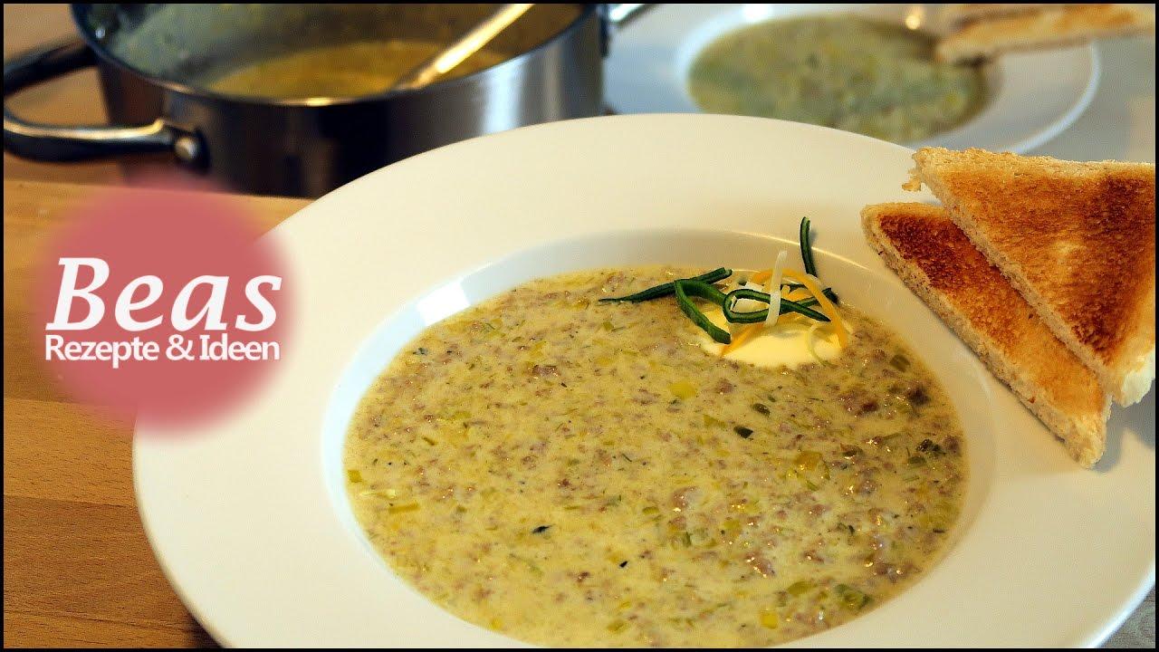 Käse-Lauch Suppe Rezept | Schnell herzhaft kochen | Porree ...