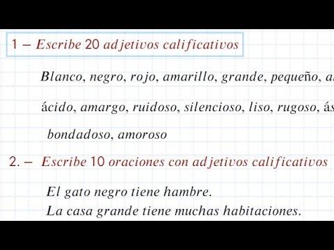 Ejemplos De Oraciones Con Adjetivo Calificativo