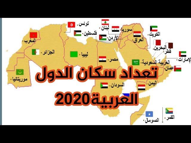 ترتيب الدول العربية حسب عدد السكان 2020 Youtube