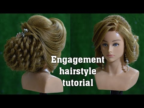 engagement-hairstyle-tutorial-||-3d-front-layer-hairstyle-||-puff-with-low-bun-||-easy-perfect-bun