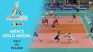 Watch the men's volleyball gold medal match from fisu summer universiade - napoli 2019 between italy and poland. #bepartofthegame #napoli2019 #univ...