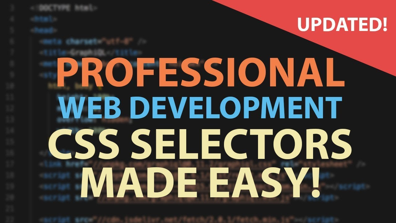 CSS SELECTORS MADE EASY - HTML CSS Tutorial for Beginners