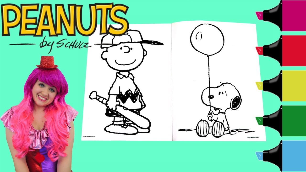 Coloring Snoopy & Charlie Brown Peanuts Coloring Book Page Colored ...