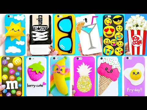 DIY PHONE CASES with Craft Foam | Easy & Cute Phone Projects & iPhone Hacks
