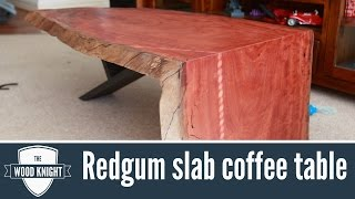 104 - Redgum Slab Coffee Table