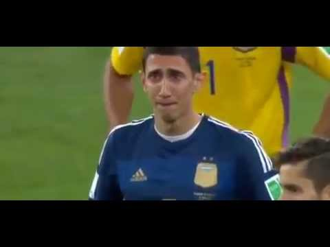 Messi , Di María & Kun Aguero Crying After The Loss ...