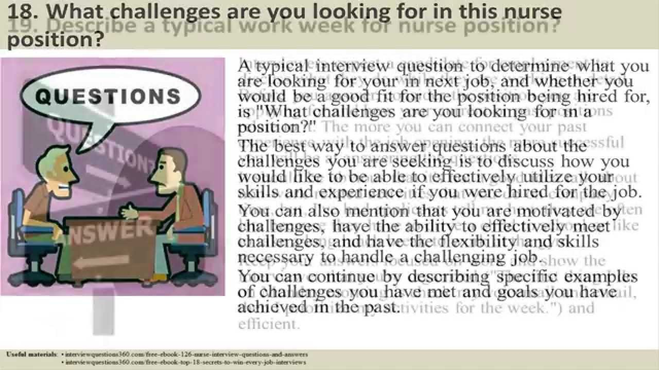126 Nurse Interview Questions And Answers Youtube