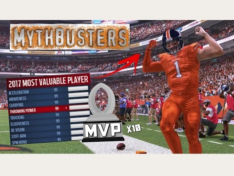 WOULD A MAXED OUT 99 OVR. QB WIN MVP EVERY YEAR?? Madden 17 Mythbusters