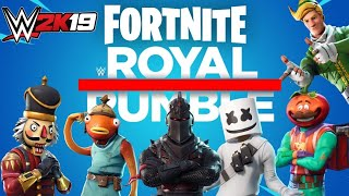 WWE 2K19 FORTNITE BATTLE ROYAL RUMBLE - 30 SKINS 1 GAGNANT!!
