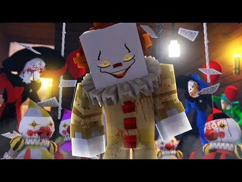 PENNYWISE MORPH HIDE AND SEEK! -  Minecraft IT The Clown w/ Atlantis
