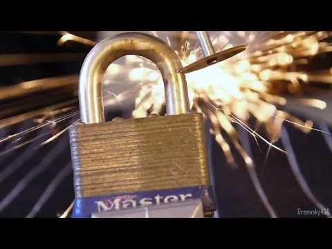 Cordless Dremel Tool vs. Master Pad Lock