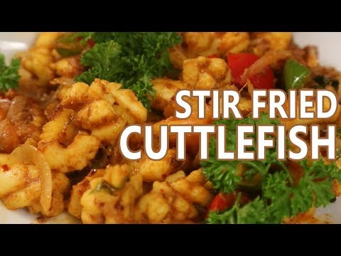 Stir Fried Cuttlefish Recipe | Mallika Joseph FoodTube