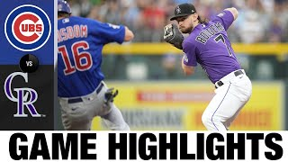 Cubs vs. Rockies Game Highlights (8/03/21)