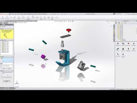 SOLIDWORKS Quick Tip - Working With Exploded Views In Assemblies