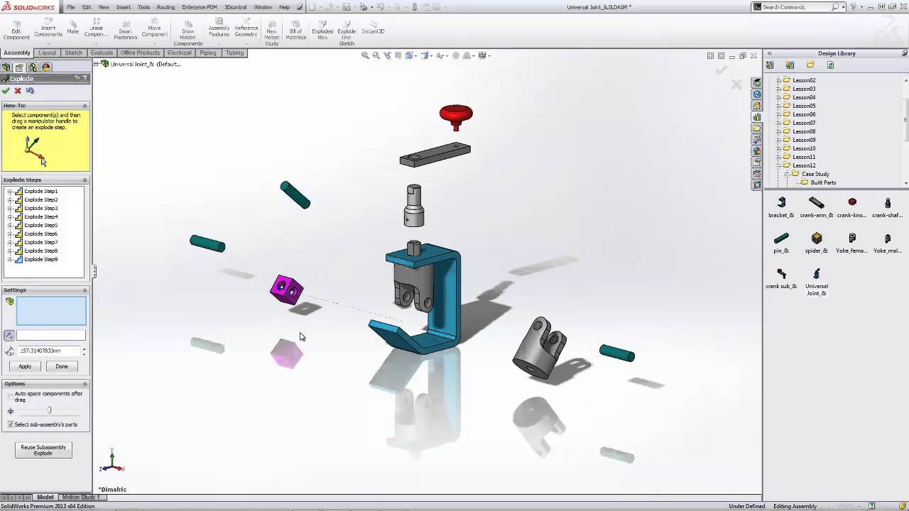 Solidworks Exploded Views In Assemblies Youtube
