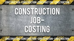 Construction Job/Project Costing Training
