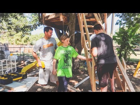 Building a Staircase for the Treehouse!