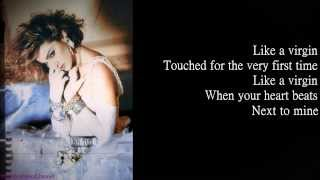 Madonna - Like A Virgin (Lyrics on Screen)