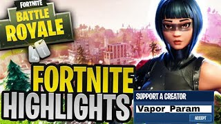 Fortnite Highlights // Fortnite India // Team Vapor use code (Vapor_Param)