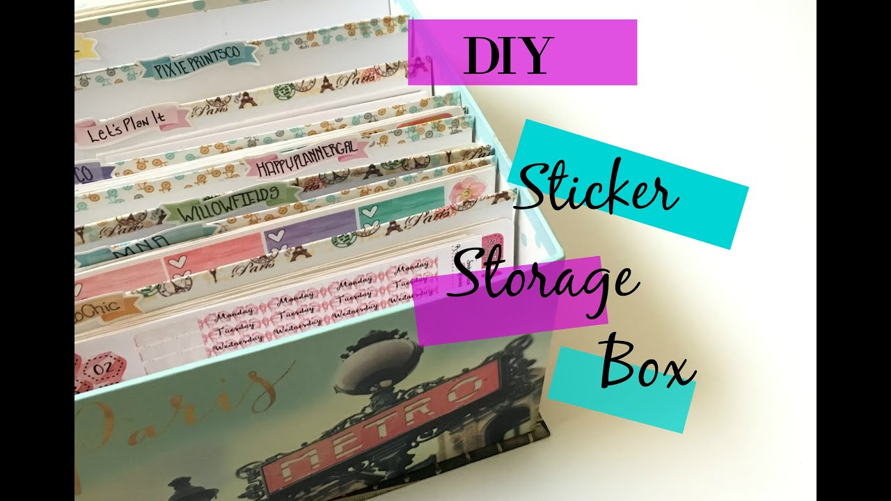 Diy file folder box to organize your stickers youtube - Diy File Folder Box To Organize Your Stickers Youtube 2