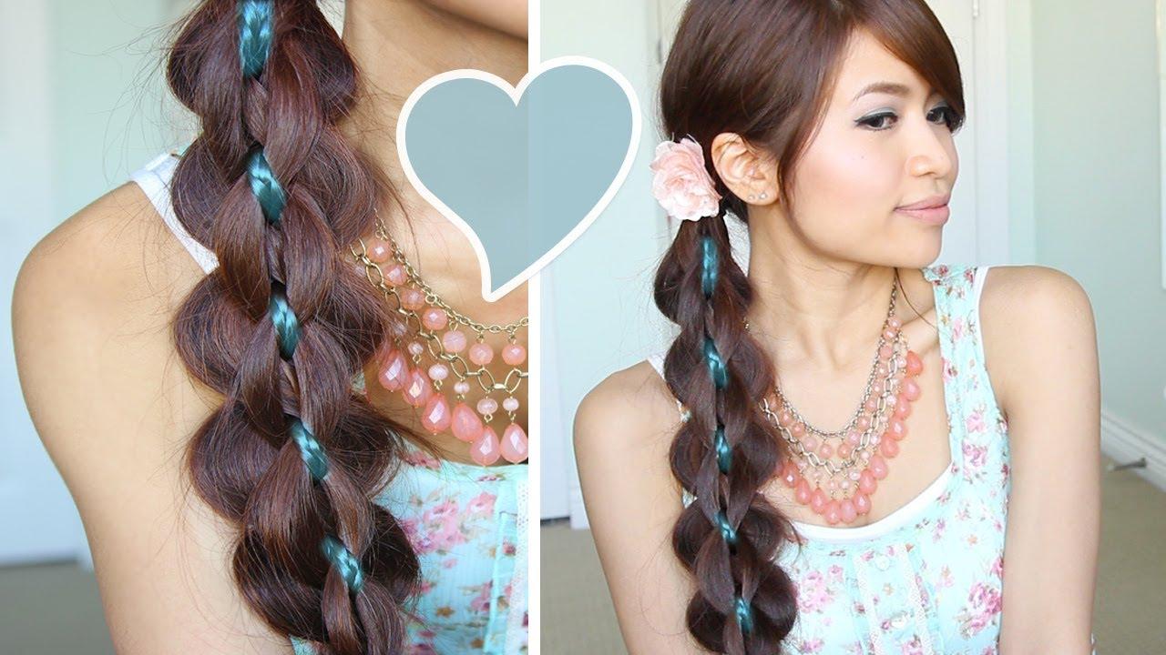 intricate 5-strand braid hair tutorial