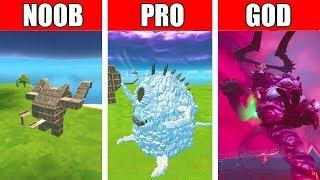 Fortnite NOOB vs PRO vs GOD: Halloween Cute Monster  BUILD CHALLENGE in Fortnite