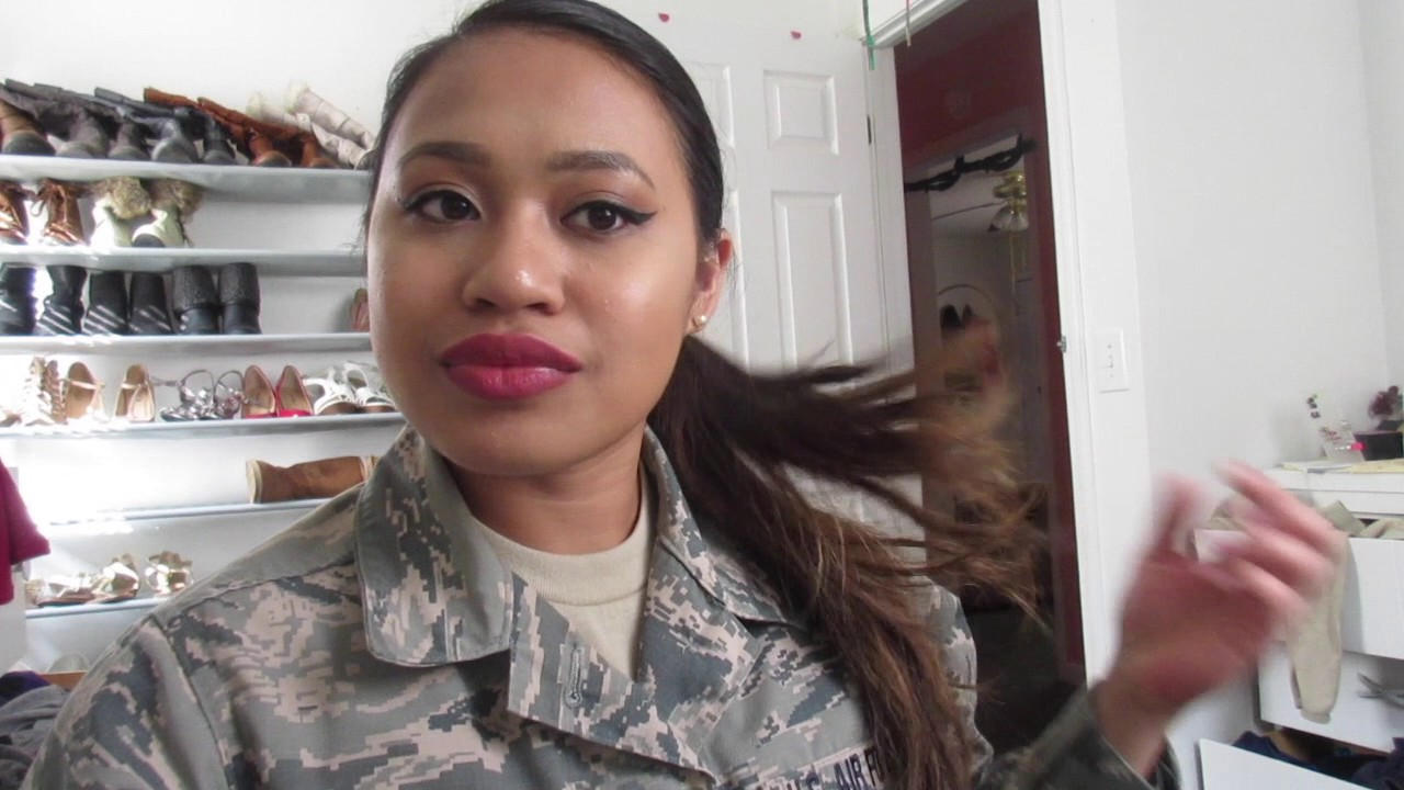 HOW TO Basic Training Hair Regulation Military Bun For