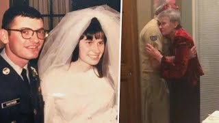 Vet Surprises Wife of 50 Years With 3rd Marriage Ceremony