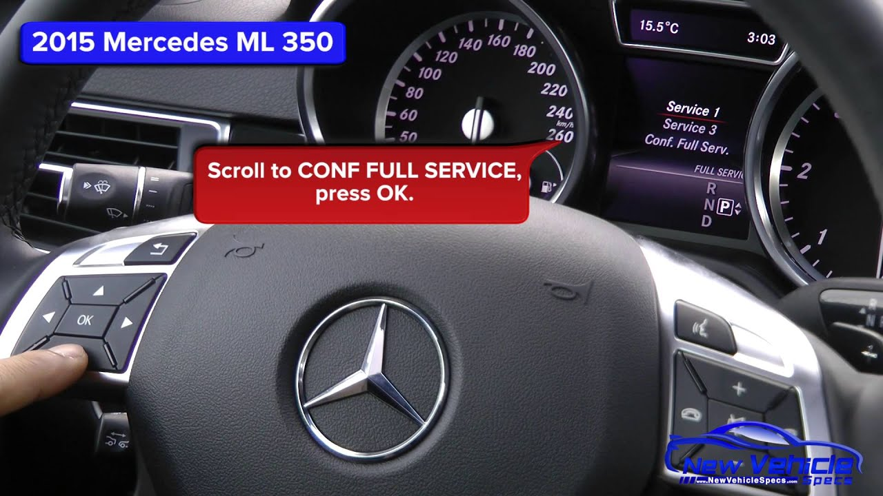 2015 mercedes ml 350 oil light reset service light reset for How much is service c for mercedes benz