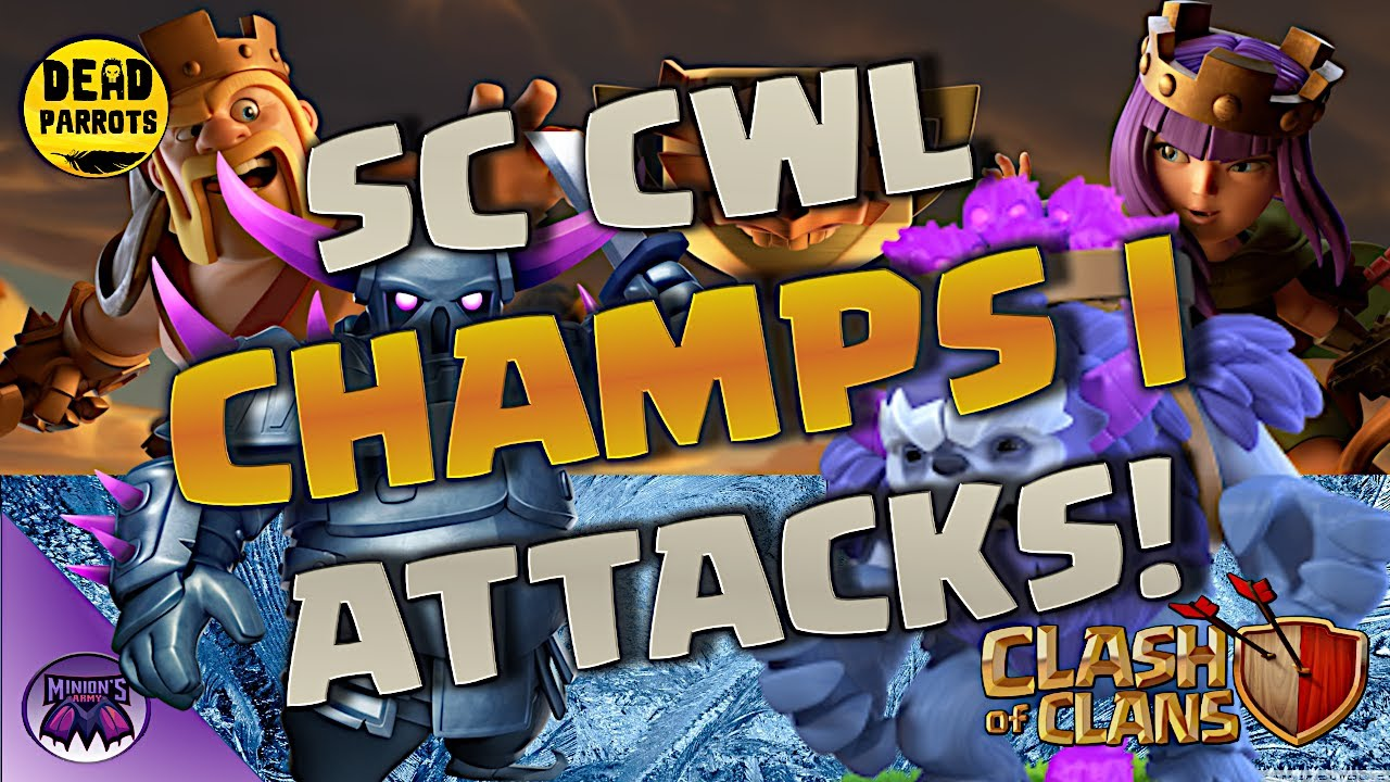 *Check Out these SCCWL Champs 1 Attacks* Th13 Yeti & Bomb, Miner, and Hybrid 3 Star CWL Attacks!!!