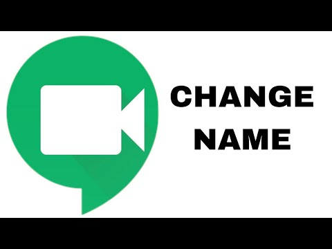 How To Change Name On Google Meet App Youtube