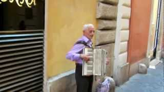 Accordion Street Musician in Rome, Italy